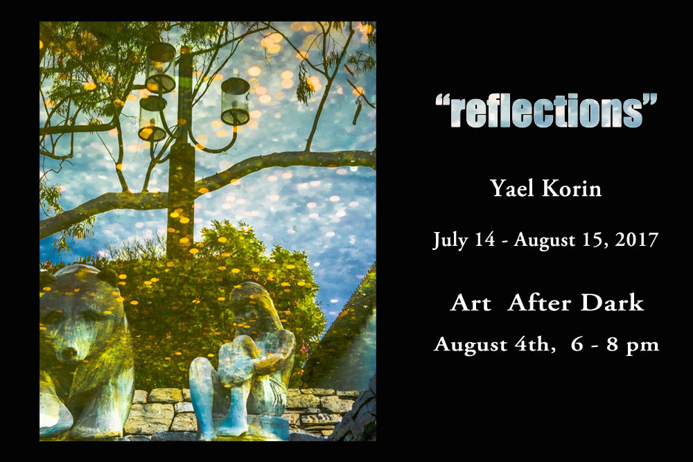 """Reflections"" showing now at The Photo Shop in SLO, CA. By photographer Yael Korin, July 14 to August 15, 2017"