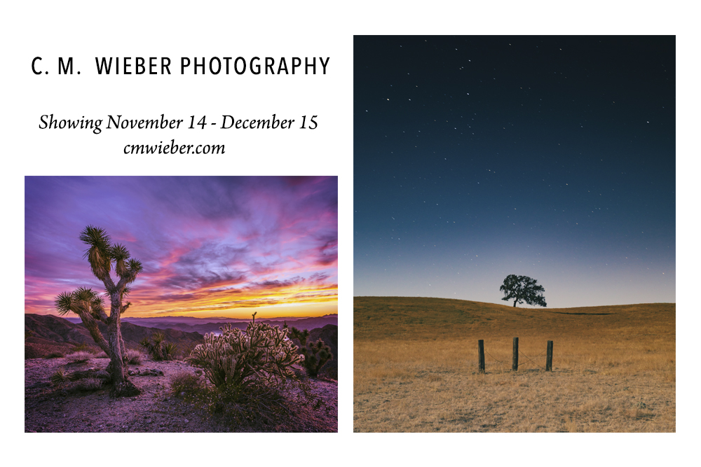 Now showing C.M. Wieber Photography at The Photo Show in SLO CA.